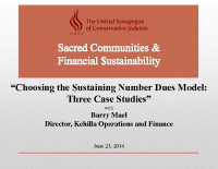 Choosing the Sustaining Number Dues Model