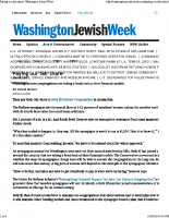 Paying our fair share : Washington Jewish Week