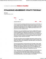 Synagogue Membership  What's the Deal: Sh'ma Journal_ A Journal of Jewish Ideas